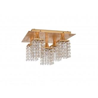 EGLO 97721 | Pyton-Gold Eglo stropne svjetiljke svjetiljka četvrtast 5x G9 1800lm 3000K zlatno, prozirno