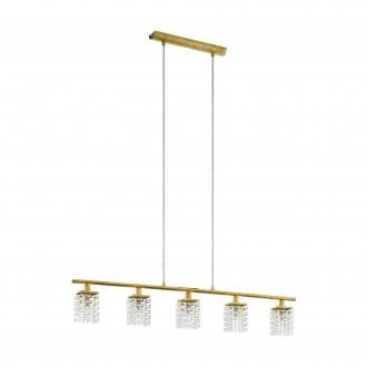 EGLO 97723 | Pyton-Gold Eglo visilice svjetiljka 5x G9 1800lm 3000K zlatno, prozirno