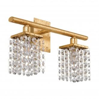 EGLO 97724 | Pyton-Gold Eglo zidna svjetiljka s prekidačem 2x G9 720lm 3000K zlatno, prozirno
