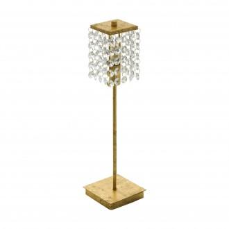 EGLO 97725 | Pyton-Gold Eglo stolna svjetiljka 37,5cm sa prekidačem na kablu 1x G9 360lm 3000K zlatno, prozirno