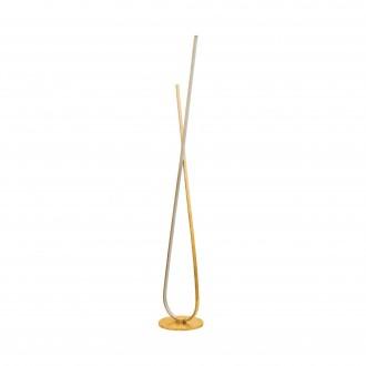 EGLO 97747 | Miraflores Eglo podna svjetiljka 141cm sa nožnim prekidačem 1x LED 3200lm 3000K zlatno, bijelo