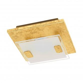 EGLO 97757 | Vicaro-1 Eglo zidna, stropne svjetiljke svjetiljka četvrtast 1x LED 180lm 3000K zlato mat, bijelo, prozirna