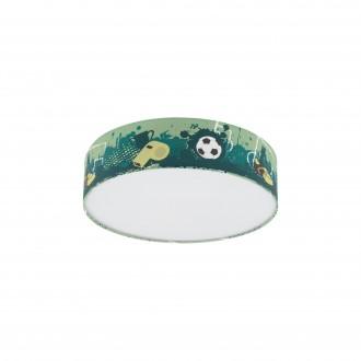 EGLO 97762 | Tabara Eglo stropne svjetiljke svjetiljka okrugli 1x E27 bijelo, zeleno, crno