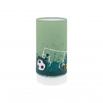 EGLO 97763 | Tabara Eglo stolna svjetiljka cilindar 25,5cm sa prekidačem na kablu 1x LED 540lm 3000K bijelo, zeleno, crno