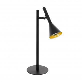 EGLO 97805 | Cortaderas Eglo stolna svjetiljka 44,5cm sa prekidačem na kablu 1x GU10 400lm 3000K crno, zlatno