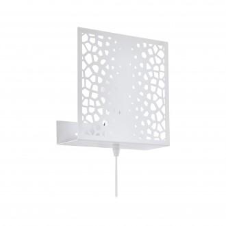 EGLO 97889 | Gallico Eglo zidna svjetiljka sa prekidačem na kablu 1x E27 bijelo