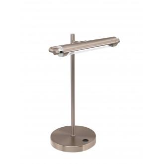 EGLO 97913 | Casamarte Eglo stolna svjetiljka 35,5cm sa tiristorski dodirnim prekidačem jačina svjetlosti se može podešavati 1x LED 450lm 3000K poniklano mat