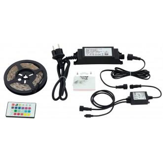 EGLO 97929 | Led-Stripes-Flex Eglo LED traka svjetiljka daljinski upravljač s utičnicom 1x LED 600lm RGBK IP44 prozirno