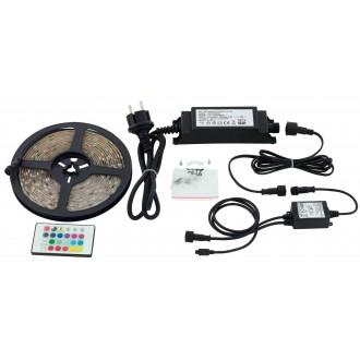 EGLO 97931 | Led-Stripes-Flex Eglo LED traka svjetiljka daljinski upravljač s utičnicom 1x LED 1000lm RGBK IP44 prozirno