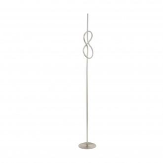 EGLO 97942 | Novafeltria Eglo podna svjetiljka 160cm sa prekidačem na kablu 1x LED 1300lm 3000K poniklano mat, bijelo