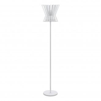 EGLO 97953 | Locubin Eglo podna svjetiljka 153,5cm sa nožnim prekidačem 1x E27 bijelo