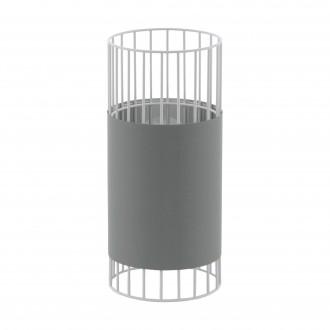 EGLO 97956 | Norumbega Eglo stolna svjetiljka 31cm sa prekidačem na kablu 1x E27 bijelo, sivo