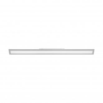 EGLO 98027 | Salobrena-2 Eglo stropne svjetiljke LED panel pravotkutnik jačina svjetlosti se može podešavati 1x LED 4250lm 4000K sivo, bijelo
