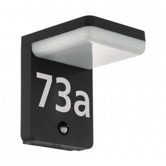EGLO 98092 | Amarosi Eglo zidna svjetiljka sa senzorom 1x LED 1200lm 5000K IP44 crno, bijelo