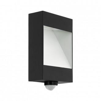 EGLO 98098 | Manfria Eglo zidna svjetiljka sa senzorom 1x LED 1000lm 3000K IP44 antracit, bijelo