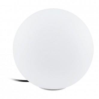 EGLO 98101 | Monterolo Eglo dekoracija svjetiljka kuglasta sa kablom i vilastim utikačem 1x E27 IP65 bijelo