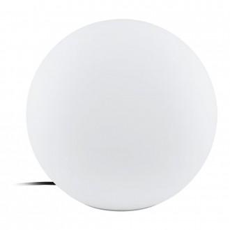 EGLO 98102 | Monterolo Eglo dekoracija svjetiljka kuglasta sa kablom i vilastim utikačem 1x E27 IP65 bijelo