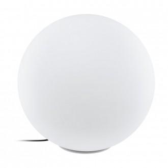 EGLO 98104 | Monterolo Eglo dekoracija svjetiljka kuglasta sa kablom i vilastim utikačem 1x E27 IP65 bijelo