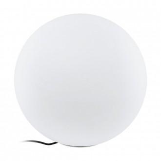 EGLO 98107 | EGLO-Connect-Monterolo Eglo dekoracija smart rasvjeta kuglasta jačina svjetlosti se može podešavati, sa podešavanjem temperature boje, promjenjive boje, sa kablom i vilastim utikačem 1x E27 806lm 2700 <-> 6500K IP65 bijelo