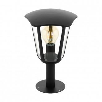 EGLO 98122   Monreale Eglo podna svjetiljka 33,5cm 1x E27 IP44 crno, prozirno