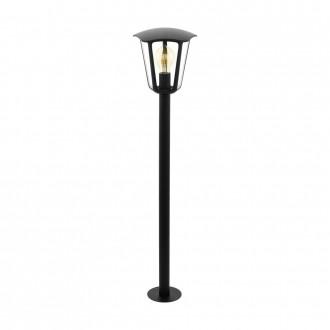 EGLO 98123   Monreale Eglo podna svjetiljka 99,5cm 1x E27 IP44 crno, prozirno