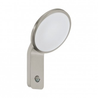 EGLO 98128   Cicerone Eglo zidna svjetiljka sa senzorom 1x LED 950lm 3000K IP44 plemeniti čelik, čelik sivo, bijelo