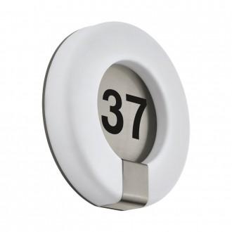 EGLO 98147   Marchesa Eglo zidna svjetiljka okrugli 1x LED 1300lm 3000K IP44 plemeniti čelik, čelik sivo, bijelo