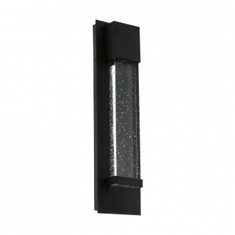EGLO 98153 | Villagrazia Eglo zidna svjetiljka oblik cigle 2x LED 680lm 3000K IP44 crno, prozirna, efekt mjehura