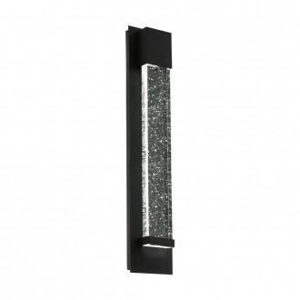 EGLO 98154 | Villagrazia Eglo zidna svjetiljka oblik cigle 2x LED 680lm 3000K IP44 crno, prozirna, efekt mjehura