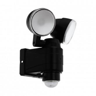 EGLO 98189   Casabas Eglo zidna svjetiljka sa senzorom baterijska/akumulatorska, elementi koji se mogu okretati 2x LED 800lm 6500K IP44 crno, saten
