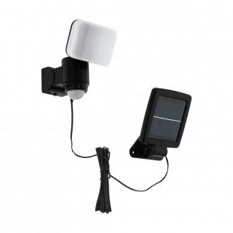 EGLO 98195 | Casabas Eglo zidna svjetiljka sa senzorom solarna baterija, elementi koji se mogu okretati 1x LED 470lm 6500K IP44 crno, bijelo