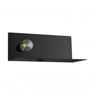 EGLO 98264 | Ciglie Eglo zidna svjetiljka s prekidačem USB utikač, punjač telefona, punjač mobilnog telefona 1x E27 crno