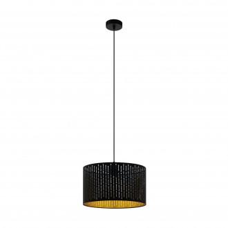 EGLO 98312 | Varillas Eglo visilice svjetiljka okrugli 1x E27 crno, zlatno