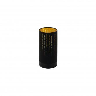 EGLO 98314 | Varillas Eglo stolna svjetiljka okrugli 25,5cm sa prekidačem na kablu 1x E27 crno, zlatno