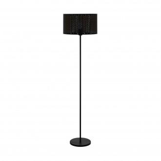 EGLO 98315   Varillas Eglo podna svjetiljka okrugli 151cm sa nožnim prekidačem 1x E27 crno, zlatno