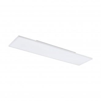 EGLO 98565 | EGLO-Connect-Turcona Eglo stropne svjetiljke smart rasvjeta pravotkutnik daljinski upravljač jačina svjetlosti se može podešavati, sa podešavanjem temperature boje, promjenjive boje 1x LED 3300lm 2700 <-> 6500K bijelo