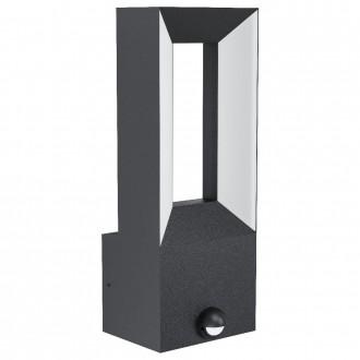 EGLO 98726   Riforano Eglo zidna svjetiljka sa senzorom 2x LED 1100lm 3000K IP44 antracit, bijelo