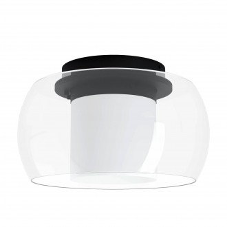 EGLO 99022 | EGLO-Connect-Briaglia Eglo stropne svjetiljke smart rasvjeta jačina svjetlosti se može podešavati, sa podešavanjem temperature boje, promjenjive boje, može se upravljati daljinskim upravljačem 1x LED 3150lm 2700 <-> 6500K crno, bijelo,