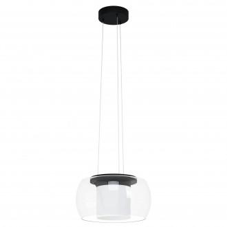 EGLO 99023 | EGLO-Connect-Briaglia Eglo visilice smart rasvjeta jačina svjetlosti se može podešavati, sa podešavanjem temperature boje, promjenjive boje, može se upravljati daljinskim upravljačem 1x LED 3150lm 2700 <-> 6500K crno, bijelo, prozirno