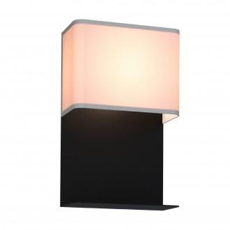 EGLO 99069 | Galdakao Eglo zidna svjetiljka s prekidačem 1x LED 410lm 3000K crno, bijelo