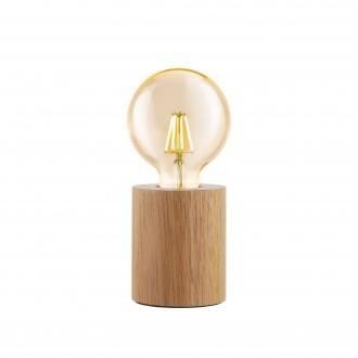 EGLO 99079 | Turialdo Eglo stolna svjetiljka 10cm sa prekidačem na kablu 1x E27 javor