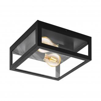 EGLO 99122 | Amezola Eglo zidna, stropne svjetiljke svjetiljka 2x E27 IP44 crno, prozirno