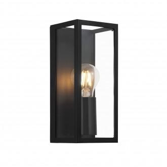 EGLO 99123 | Amezola Eglo zidna, stropne svjetiljke svjetiljka 1x E27 IP44 crno, prozirno