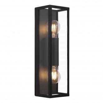 EGLO 99124 | Amezola Eglo zidna, stropne svjetiljke svjetiljka 2x E27 IP44 crno, prozirno