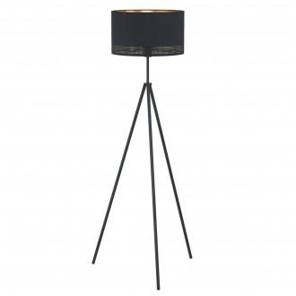 EGLO 99279   Esteperra Eglo podna svjetiljka 140,5cm sa nožnim prekidačem 1x E27 crno, zlatno