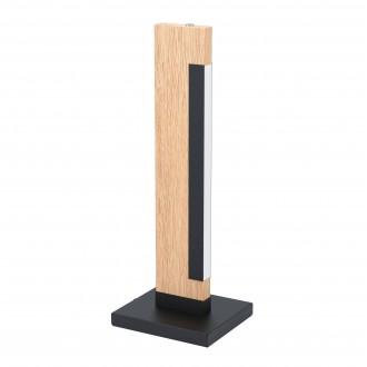 EGLO 99295 | Camacho Eglo stolna svjetiljka 40,5cm sa dodirnim prekidačem 1x LED 800lm 3000K boja hrasta, crno, bijelo