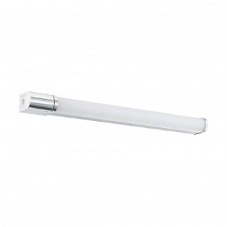 EGLO 99339 | Tragacete-1 Eglo zidna svjetiljka oblik cigle s prekidačem s utičnicom 1x LED 1300lm 4000K IP44 krom, opal