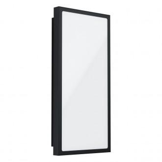 EGLO 99533 | Casazza Eglo zidna, stropne svjetiljke svjetiljka pravotkutnik 1x LED 1900lm 3000K IP44 crno, bijelo