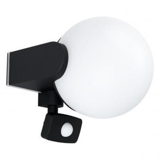 EGLO 99573   Rubio Eglo zidna svjetiljka sa senzorom 1x E27 IP44 antracit, bijelo