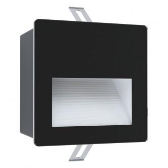 EGLO 99574 | Aracena Eglo ugradbena svjetiljka četvrtast 1x LED 400lm 4000K IP65 crno, bijelo